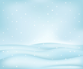 calm free winter landscape plain scene at snowfall vector