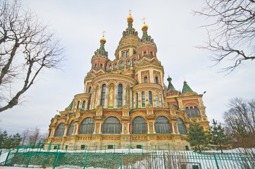 St. Peter and Paul's church in the Russian city of Peterhof near