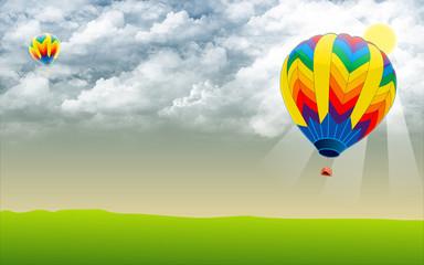 Hot air ballon - Stock Image