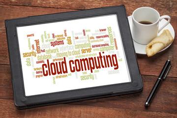 Wall Mural - cloud computing word cloud