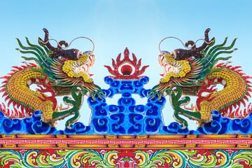 Dragons statue