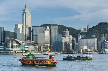 Foto op Aluminium Hong-Kong Victoria Harbor of Hong Kong