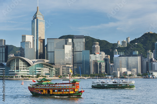 Victoria Harbor, Hong Kong, China скачать