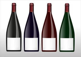 Weinflaschen Flaschen Etikett Sektflasche