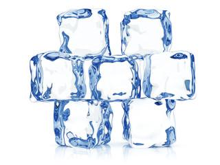 Clear transparent ice blocks