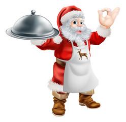 Santa Cook Christmas Dinner Concept