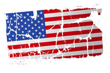 flaga USA wektor
