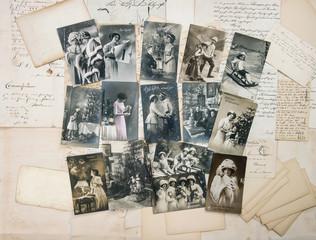 Antike Postkarten Weihnachten und Neujahr