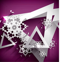 Holiday Paper 3d Snowflakes
