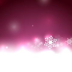 Purple vector snow Christmas background