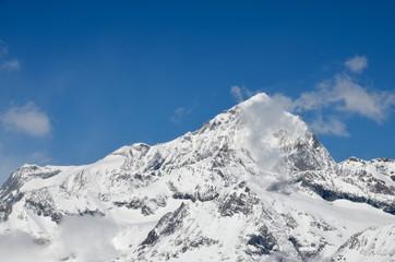 View of  Monte Rosa massif from Gornegrat in Zermatt
