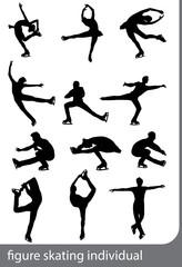 Figure skating, individual, vector