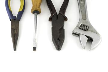 tools isolated on white background