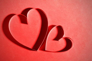 Two paper heart