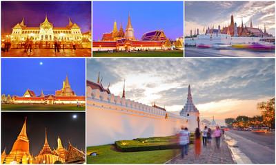 collection of Grand Palace,Bangkok, Thailand