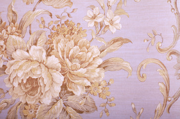 Vintage wallpaper with floral pattern