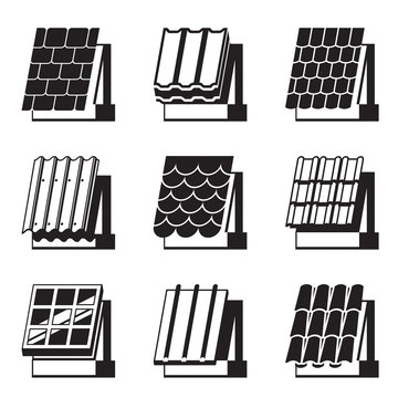 Building materials for roofs - vector illustration