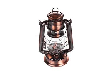 Old-fashioned lantern on white background