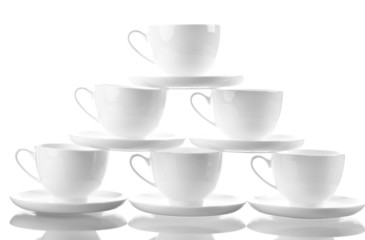 Small  coffee  cup set isolated on white background