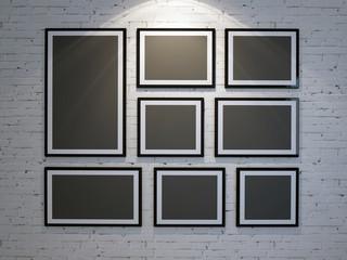 frame on brick wall