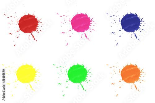 bunte farbkleckse auf wei em hintergrund stockfotos und lizenzfreie bilder auf. Black Bedroom Furniture Sets. Home Design Ideas