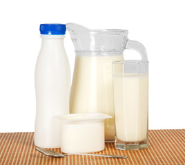 Dairy products on the bamboo cloth