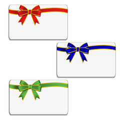 Set of cards with bow