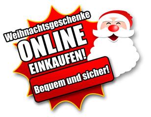 """Siegel """"Weihnachtsgeschenke online einkaufen!"""""""