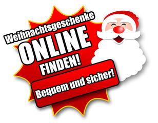 """Siegel """"Weihnachtsgeschenke online finden!"""""""