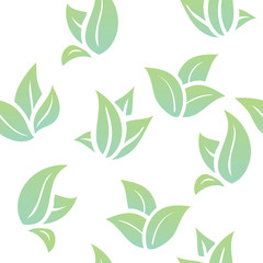 seamless background green leaves
