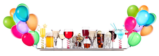 different images of alcohol on a tray