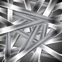 Abstract vector metallic design