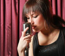 Karaoke Girl Singing.