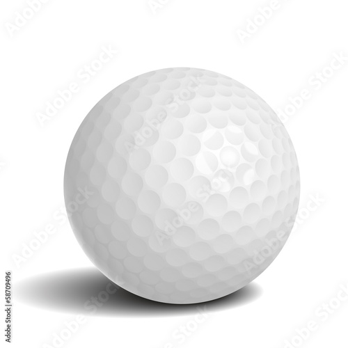 Wall mural Golf ball with shadow
