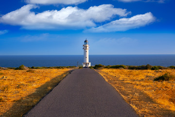 Wall Mural - Barbaria cape Lighthouse in Formentera Balearic islands