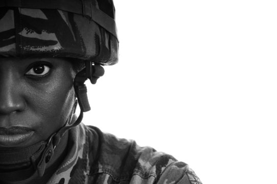 Black Female Soldier