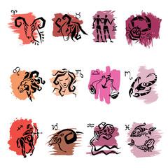 Horoscope. Zodiac signs.