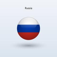 Russia round flag. Vector illustration.