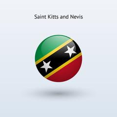 Saint Kitts and Nevis round flag.