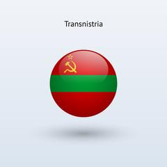 Transnistria round flag. Vector illustration.