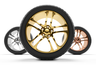 3d rendered illustration of some rims