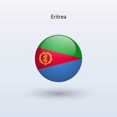 Eritrea round flag. Vector illustration.