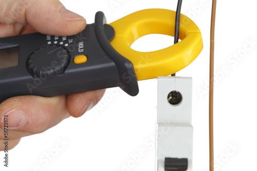 elektrischen strom messen stockfotos und lizenzfreie bilder auf bild 58723873. Black Bedroom Furniture Sets. Home Design Ideas