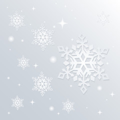Christmas snowflakes background. Vector eps10.