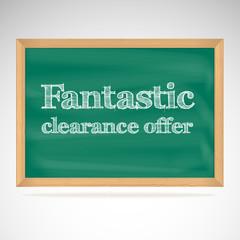 Fantastic clearance offer, green chalkboard
