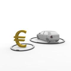 auto, euro, kosten,
