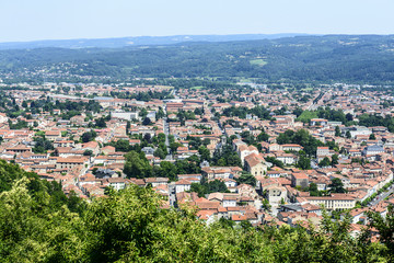 Mazamet (France), panoramic view