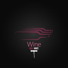 wine bottle corkscrew design background