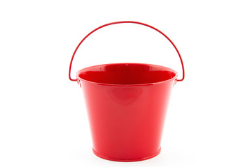single red bucket Wall mural