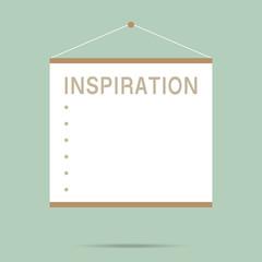 popular empty inspiration whiteboard isolated